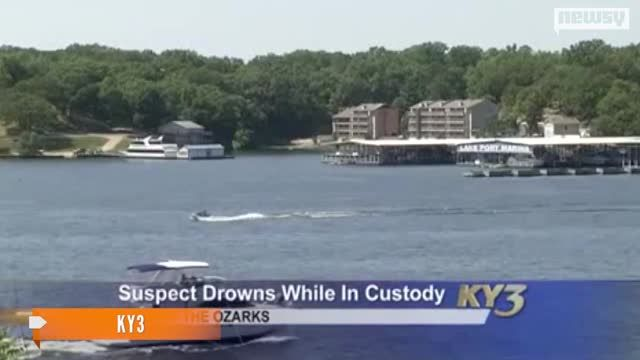 News video: Officer Placed On Leave After Handcuffed Suspect Drowns